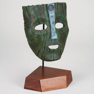 One of the hero masks converted into a gift for the producers of the film / Producer Robert Engelman