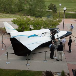Full size mock-up of the Lynx spaceplane for the aerospace company XCOR