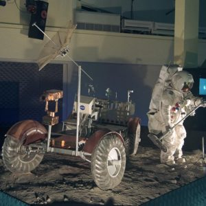 Apollo Lunar Rover and Suit