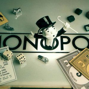 400% scale Monopoly game pieces and 3d