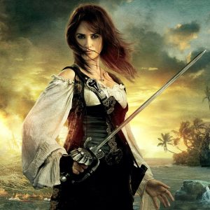 Penelope Cruz's hero sword was just one of the many weapons Global Effects created for this 4th installment of the Pirates franchise. / Prop Master Kirk Corwin