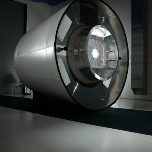 A concept / engineering model of a crew transfer vehicle for servicing the International Space Station