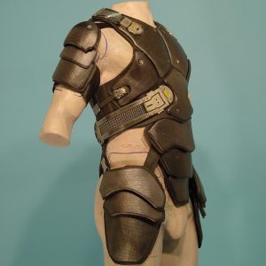 Brad Pitt's Custom made body armor / Costume Designer Michael Kaplan