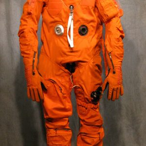 NASA transfers ownership of it's surplus spacesuits to the Smithsonian, but often, they are missing the hardware (Which is still usable). Global refurbished this Real early Shuttle LES suit, by filling in the missing pieces.