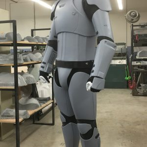 Prototype commercial costume replica of the First Order Stormtrooper costumes.