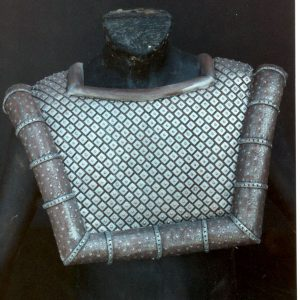 Multiples of this Klingon vest where created for the courtroom scene / Costume Designer Dodie Shepard