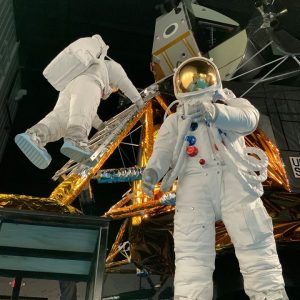 Full scale LM & Apollo A7L space suits - Director Max Ary