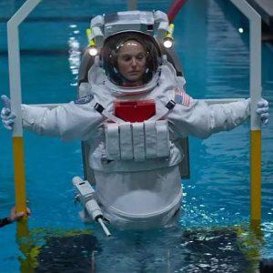 Custom EMU spacesuit for Natalie Portman built in 90% scale / Costume Designer Louise Frogley