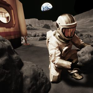 For the Denver museum of Nature & Science  we built suits and props to simulate living on Mars  / Evergreen Exhibitions