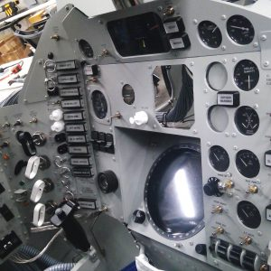 Replica Mercury cockpit / Prop Master John Harrington