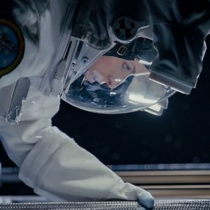 Anna Kendrick wearing our 90% scale NASA EMU Spacesuit