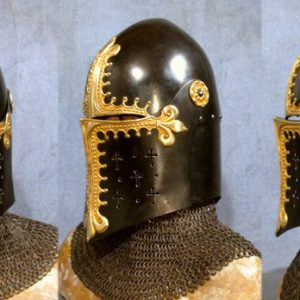 Early 14th century knightly helm / Designer Chris Gilman